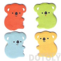 Colorful Koala Bear Shaped Adhesive Post-it Bookmark Tabs | Cute Animal Themed Paper Goods and Stationery
