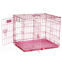 Precision Pet ProValu 2 Door Wire Dog Crate - Pink