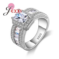 JEXXI 2016 Fashion Rings Jewelry Women AAA Austrian Crystal Wedding Engagement Rings For 925 Sterling Silver Cubic Zircon Rings