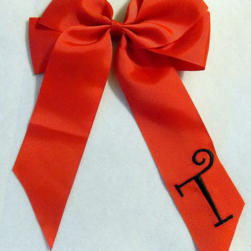 Monogram Hair Bow  Cheer Bow  Personalized Hair Bow
