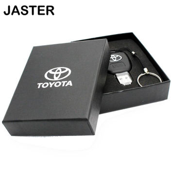 Car Key Toyota USB Flash Drive 4GB 8GB 16GB 32GB 64GB Individuation USB Key Pendrive memory Card USB 2.0 Memory Stick GIFT BOX