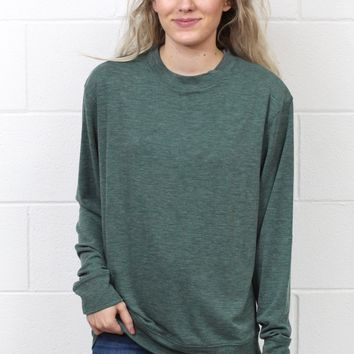 Basic Hacci Rib Long Sleeve {Forest Green}
