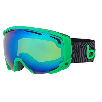 Bolle - Supreme OTG Matte Green Black Snow Goggles / Green Emerald Lenses