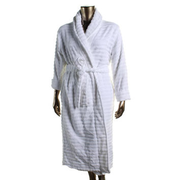 Charter Club Womens Terry Cloth Ribbed Long Robe