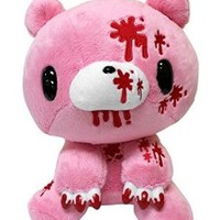 Taito Gloomy GP Chax Bear with More Blood Stuffed Plush, Pink, 10""