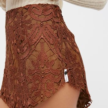 Free People Malabar Lace Mini Skirt