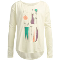 O'neill Stay Wild Girls Tee Cream  In Sizes