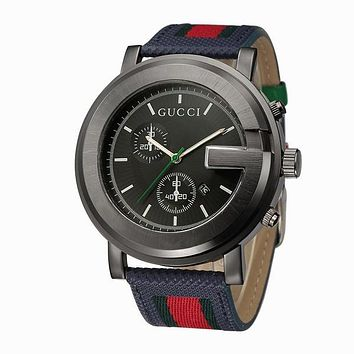 Boys & Men GUCCI Fashion Stripe Quartz Watches Wrist Watch