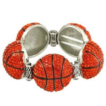 *Bling Bling Large Basketball Charm Bracelet