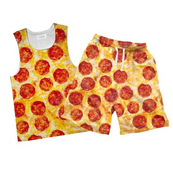 Party Pizza Combo Tank Top and Men's Shorts
