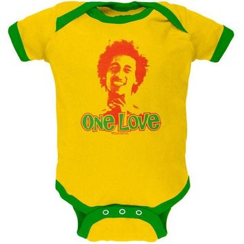 DCCKIS3 Bob Marley - One Love Yellow Baby One Piece