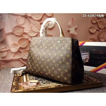 LV Louis Vuitton MONOGRAM CANVAS LARGE MONTAIGNE BB HANDBAG SHOULDER BAG