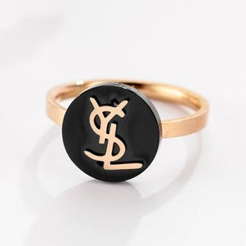 YSL Newest Fashionable Women Letter Simple Ring Accessories Jewelry(For Valentine's Day Gift)