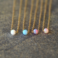 opal Layered Necklaces,14k Gold Filled,valentines necklace,girlfriend necklace