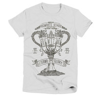 Harry Potter Tri Wizard Tournament Womens White T Shirt - Graphic Tee - Clothing - Gift