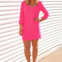 I Won't Let Go Dress: Hot Pink - What's New