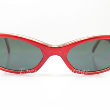 Arnette Mantis , Vintage Sunglasses , Red , Cat Eye , Kitty , 1990s , Sport , holiday gift