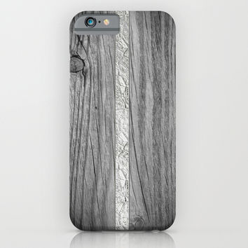 Cutted wood and silver iPhone & iPod Case by Julius Marc