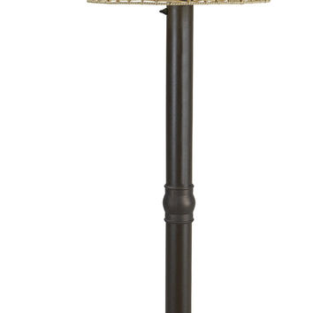 "Tahiti II 60"" Floor Lamp with 3"" Bronze Tube Body and Tight Weave, Flat Wicker, Stone Shade"