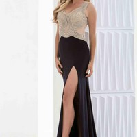 Sexy Long Jasz Couture Dress 5677