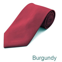 Burgundy Wedding Tie and Hanky Set