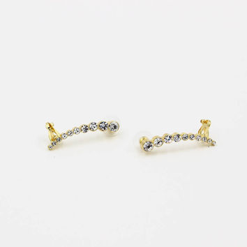 Crystal Earrings Cuff