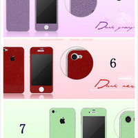 7 colors Focus Border post Mobile Phone Stickers preservative for Iphone4/4S