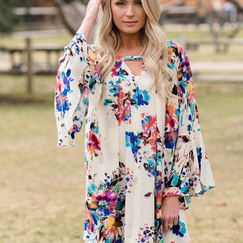 So Typical Floral Tunic/Dress Ivory