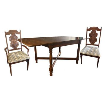 Pre-owned Drop Leaf Gate Leg Table & 4 Chairs