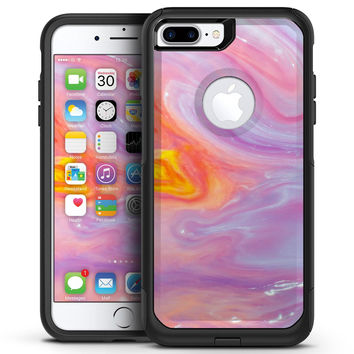 Marbleized Pink and Purple Paradise V2 - iPhone 7 or 7 Plus Commuter Case Skin Kit