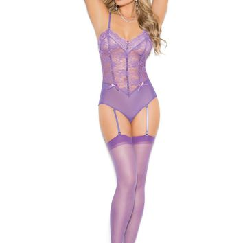 Sheer thigh hi Dahlia Purple