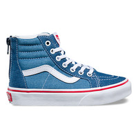 Kids Denim 2-Tone SK8-Hi Zip | Shop At Vans