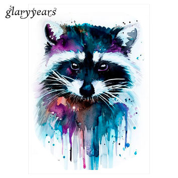 1 Sheet Beauty Decal Waterproof Tattoo Sticker KM-044 Cute Raccoon Animal Pattern Women Girl Body Art Temporary Tattoo Removable