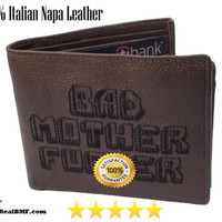 Italian Napa Leather Bad Mother Fucker Wallet Pulp Fiction Inspired!