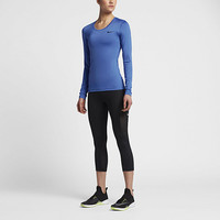The Nike Pro Women's Long Sleeve Training Top.
