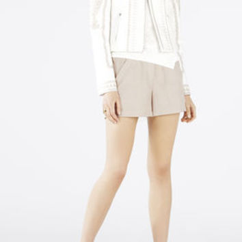 White BCBG Damon Embroidered Jacket