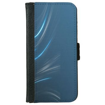 Swirl Blues Wallet Phone Case For iPhone 6/6s