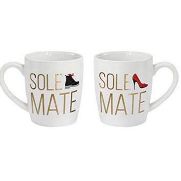 SOLE Mates Fashionable Couple Coffee Mug SET