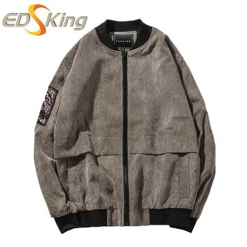 Men Collar Embroidery Bomber Jacket Solid Color Printed Style Vintage Tactical Mans Military Jackets Camouflage Windbreakers