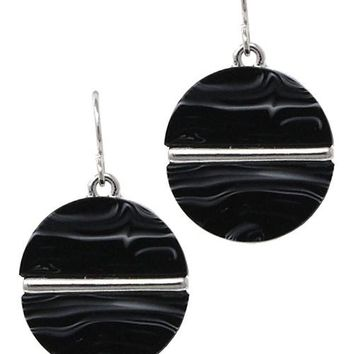Circle Fashion Drop Hook Earrings