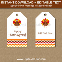 EDITABLE Thanksgiving Favor Tags - Thanksgiving Birthday Tags - Thanksgiving Baby Shower Tags - Autumn Favor Tags - Thanksgiving Wedding Tag