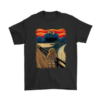 ONETOW Gingerbread Man And The Cookie Monster The Scream Painting Shirts