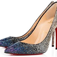 Women's shoes Christian Louboutin High Heels Decollete 554 Strass New Fashion shoes