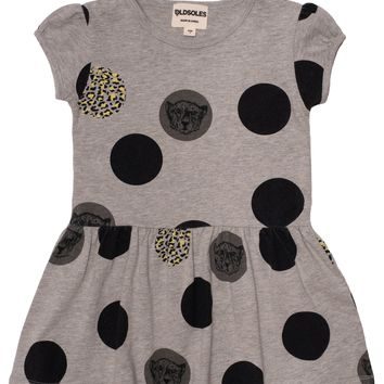 Old Soles Spot The Difference Drop Waist Dress Grey Marl Print