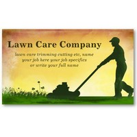 lawn care grass cutting business card from Zazzle.com