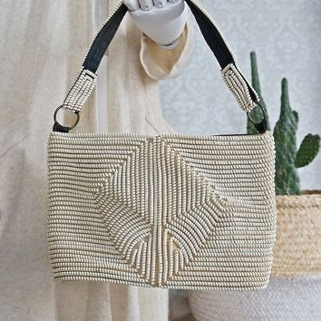 Vintage 1950s Handmade + Telephone Cord Coil Purse