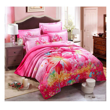 Cotton Active floral printing Quilt Duvet Sheet Cover Sets 2.0M/2.2M Bed Size 35