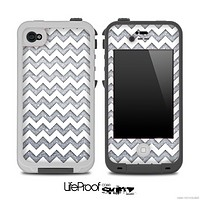 Chevron Pattern With Silver for the iPhone 5 or 4/4s LifeProof Case