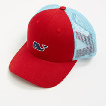 Mesh Contrast Embroidered Whale Hat