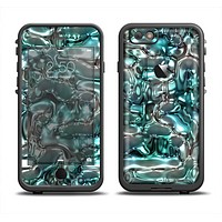 The Teal Mercury Apple iPhone 6 LifeProof Fre Case Skin Set